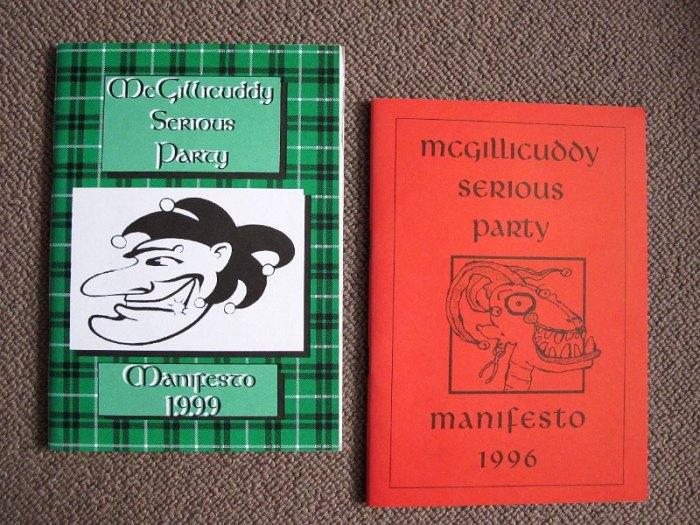 McGillicuddy serious party manifesto
